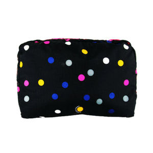 LESPORTSAC Black Nylon Cosmetic Zip Pouch $45.00
